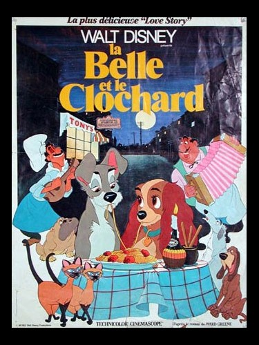 Affiche du film BELLE ET LA CLOCHARD (LA) - LADY AND THE TRAMP