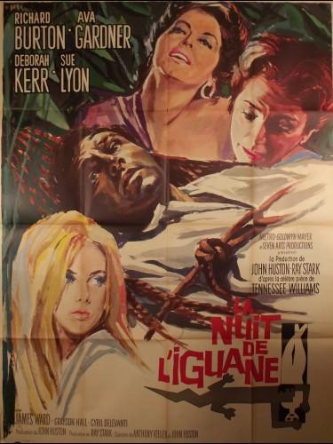 Affiche du film LA NUIT DE L'IGUANE - Titre original : THE NIGHT OF THE IGUANA
