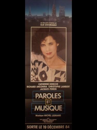 Affiche du film PAROLES ET MUSIQUE