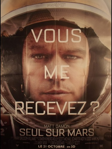 Affiche du film SEUL SUR MARS- Titre original : THE MARTIAN