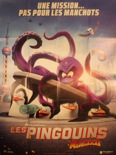 Affiche du film LES PINGOUINS DE MADAGASCAR - Titre original : PENGUINS OF MADAGASCAR