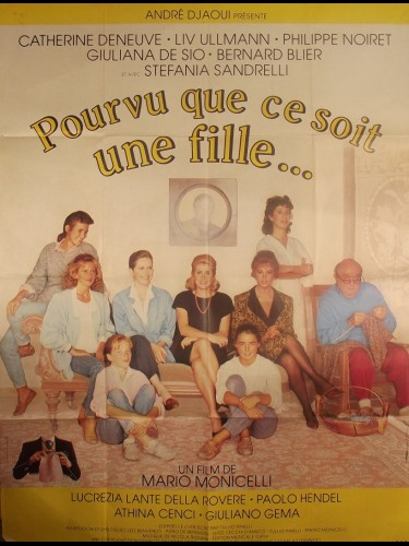 Affiche du film POURVU QUE CE SOIT UNE FILLE - Titre original : SPERIAMO CHE SIA FEMMINA