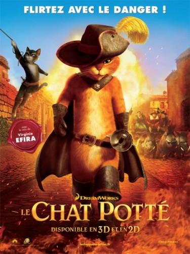 Affiche du film LE CHAT POTTE - Titre original: PUSS IN BOOTS