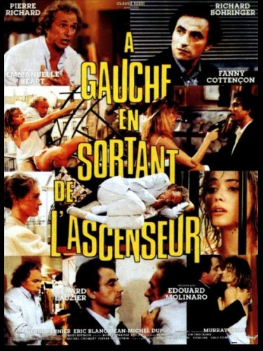 Affiche du film A GAUCHE EN SORTANT DE L'ASCENSEUR