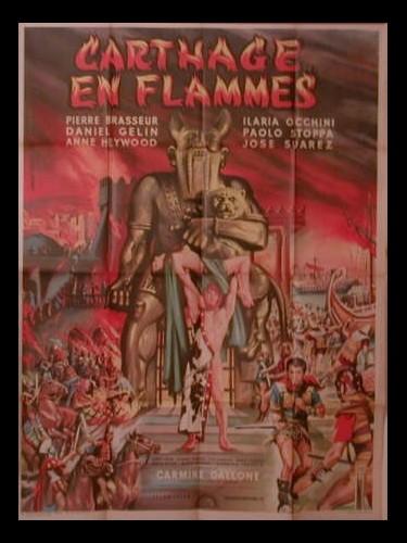 Affiche du film CARTHAGE EN FLAMMES - CARTAGINE EN FLAMME