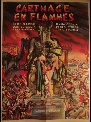 Affiche du film CARTHAGE EN FLAMMES - CARTAGINE EN FLAMME