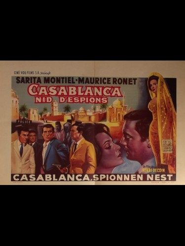 Affiche du film CASABLANCA NID D'ESPIONS - SPIONAGGIO A CASABLANCA