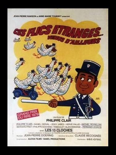 Affiche du film CES FLICS ETRANGES VENUS D'AILLEURS