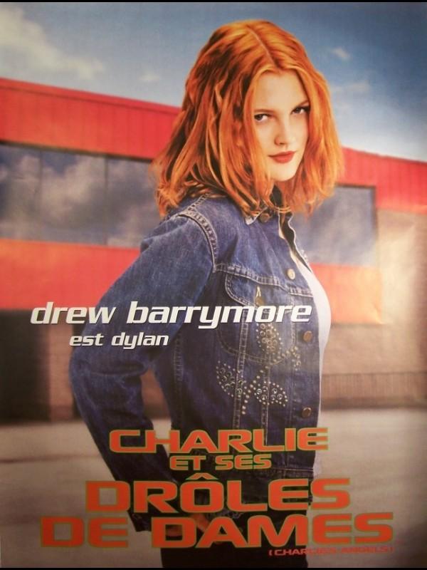 Affiche du film CHARLIE ET SES DROLES DE DAMES-DREW BARRYMORE- - CHARLIE'S ANGELS