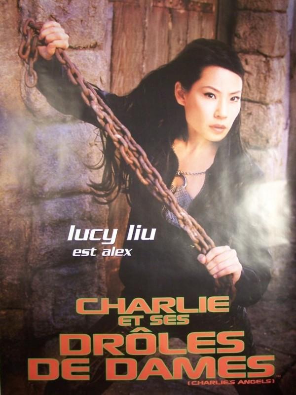 Affiche du film CHARLIE ET SES DROLES DE DAMES-LUCY LIU- - CHARLIE'S ANGELS