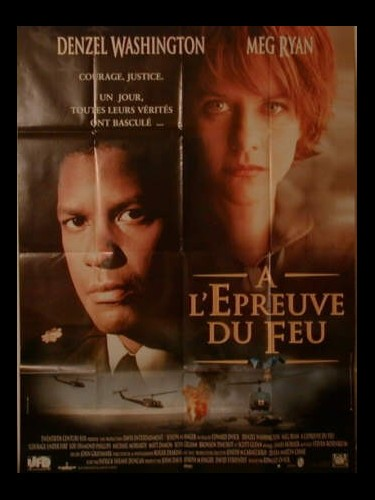 Affiche du film A L'EPREUVE DU FEU - COURAGE UNDER FIRE