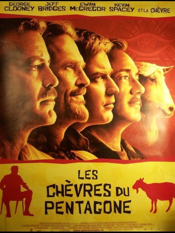 Affiche du film CHEVRES DU PENTAGONE (LES) - THE MEN WHO STARE AT GOATS