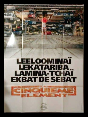 Affiche du film CINQUIEME ELEMENT (LE) - THE FIFTH ELEMENT